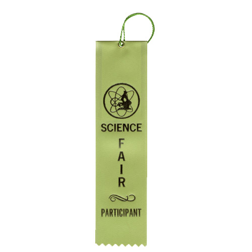 "2"" x 8"" Science Fair Participant Ribbon"