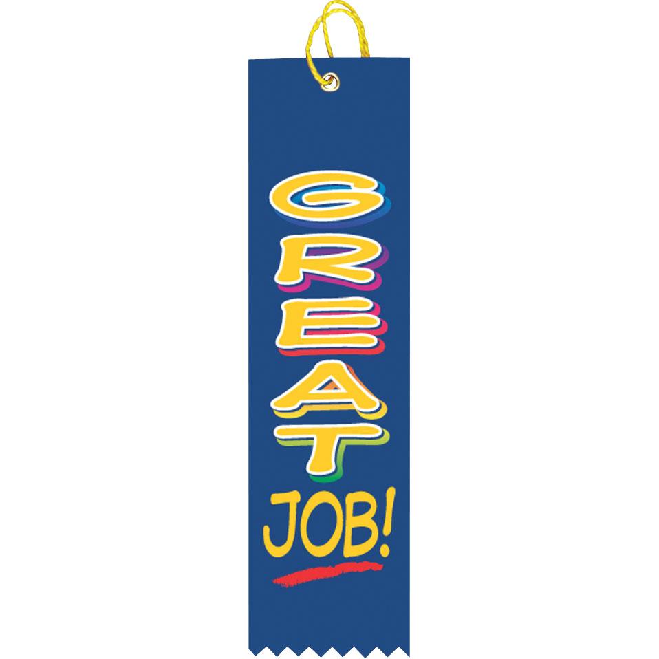 """2"""" x 8"""" Great Job Ribbon"""