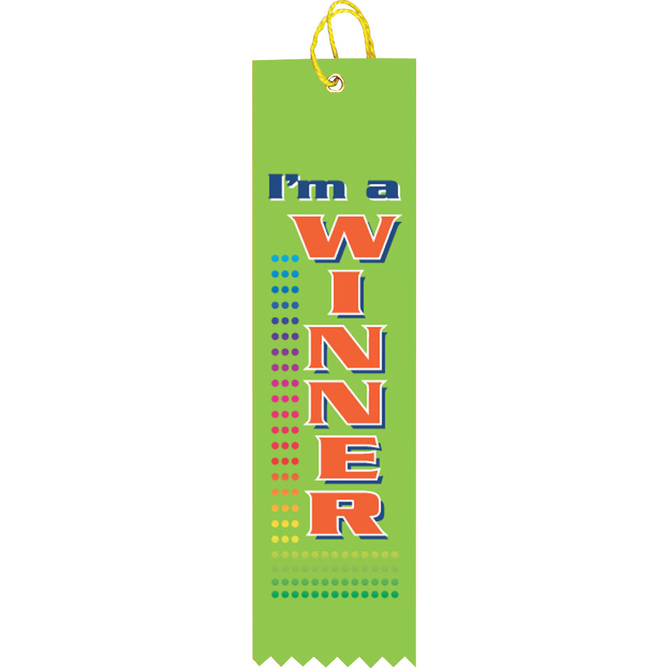 "2"" x 8"" I'm a Winner Ribbon"