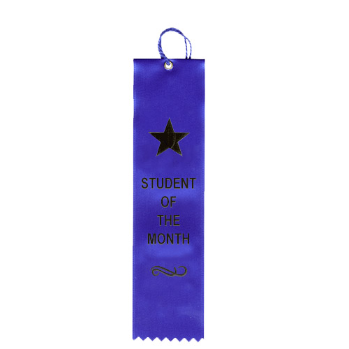 "2"" x 8"" Student Of The Month Ribbon"