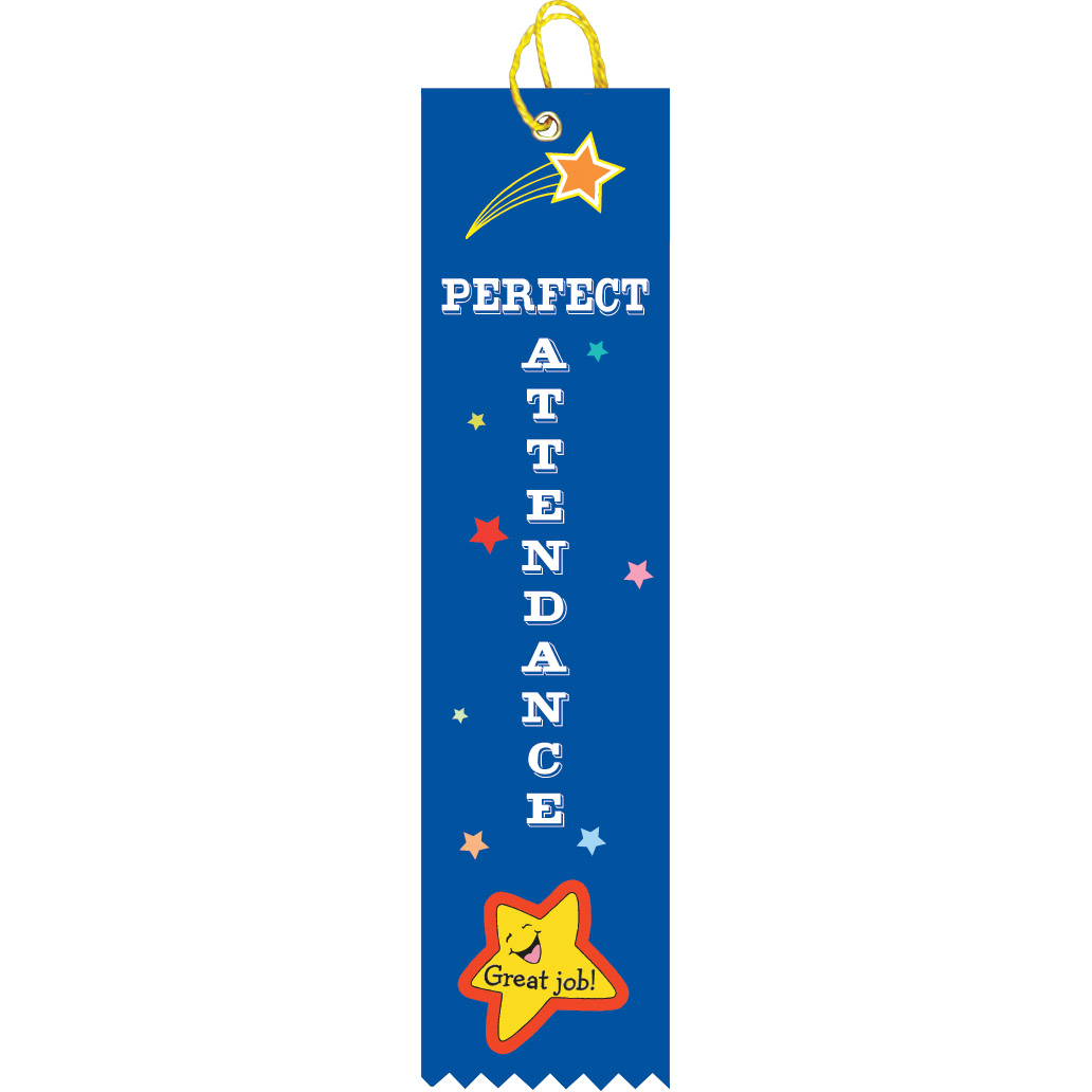 "2"" x 8"" Perfect Attendance Ribbon"