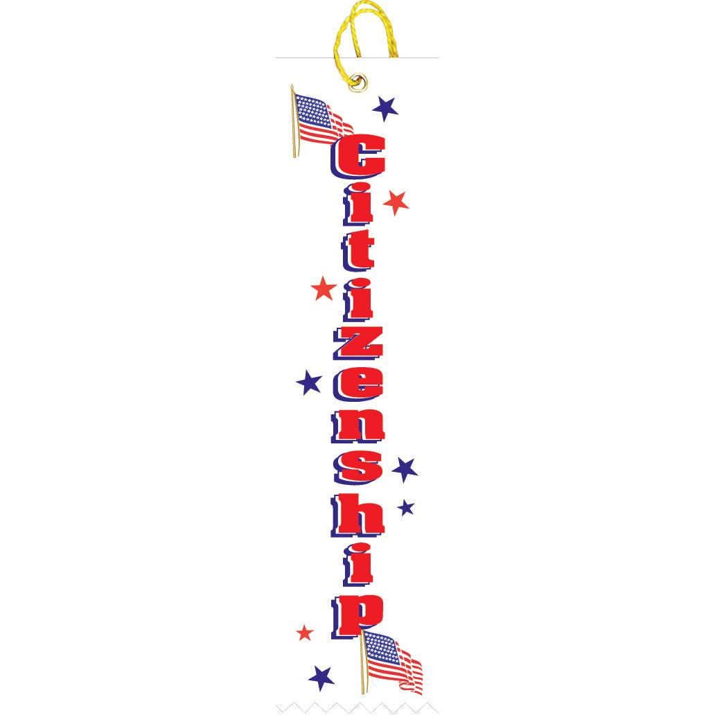 "2"" x 8"" Citizenship Ribbon"