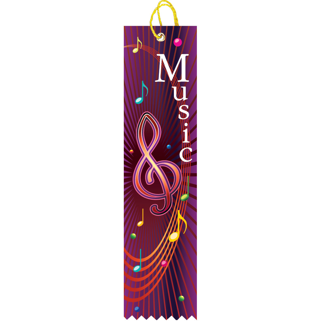 "2"" x 8"" Music Ribbon"
