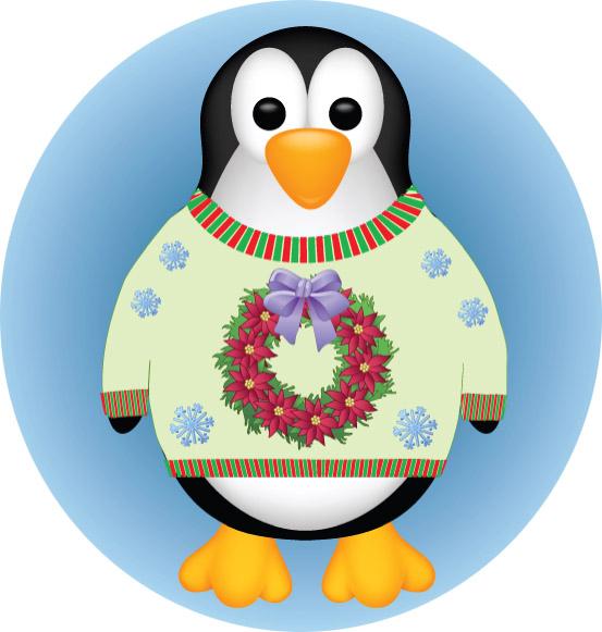 Festive Penguin Emblem