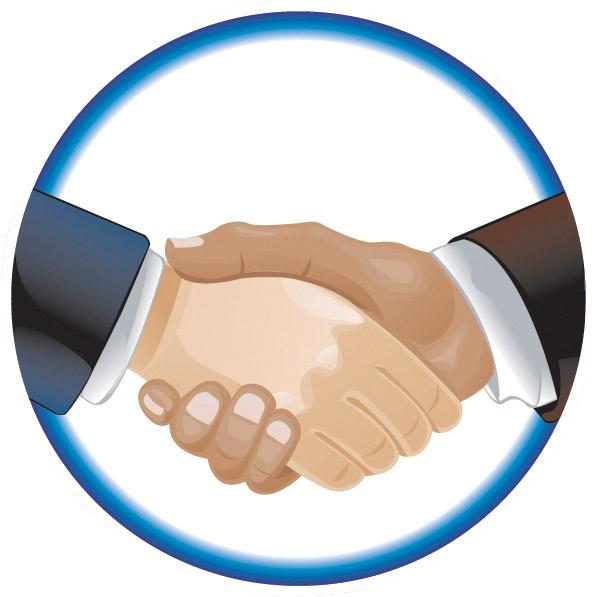 Handshake Emblem