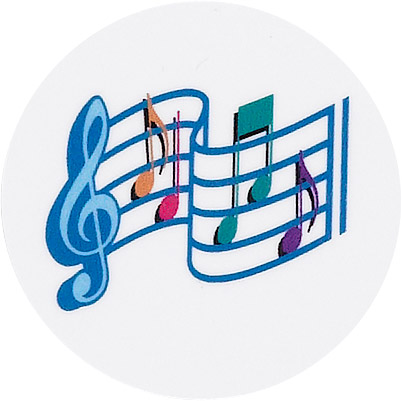 Music Note and Scale Emblem