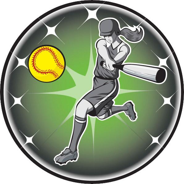 Female Softball Emblem