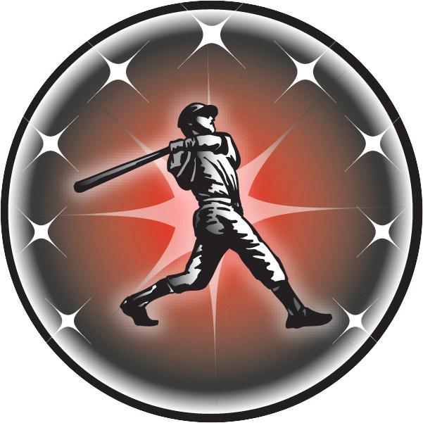 Male Baseball Batter Emblem