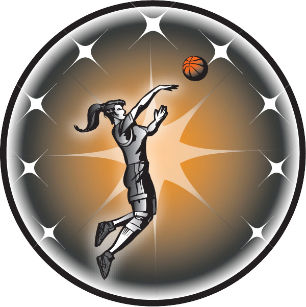 Female Basketball Emblem