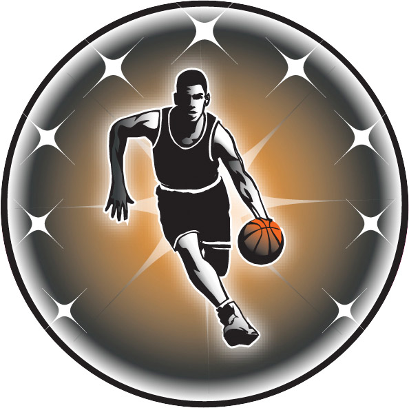 Male Basketball Emblem