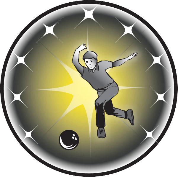 Male Bowler Emblem