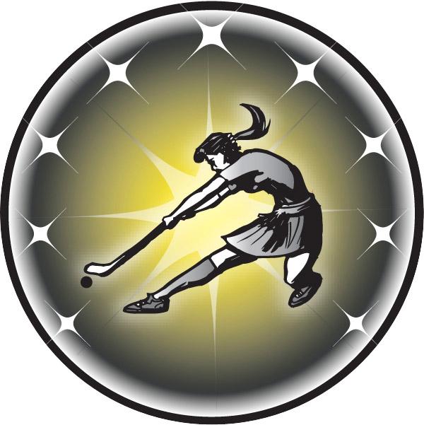 Female Field Hockey Emblem