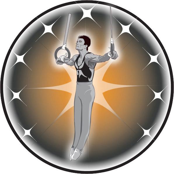 Male Gymnast Emblem