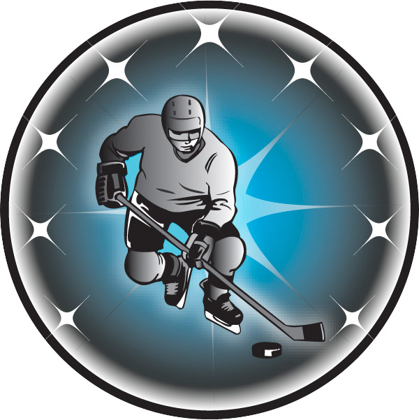 Male Ice Hockey Emblem