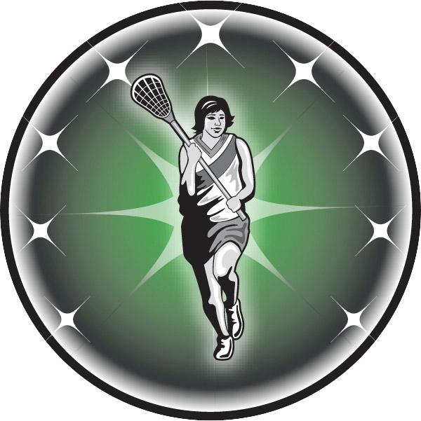 Female Lacrosse Emblem