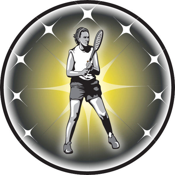 Female Tennis Emblem