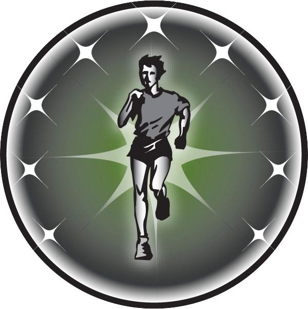 Cross Country Runner Male Emblem
