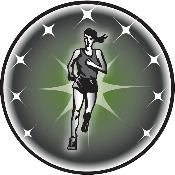 Female Cross Country Runner Emblem