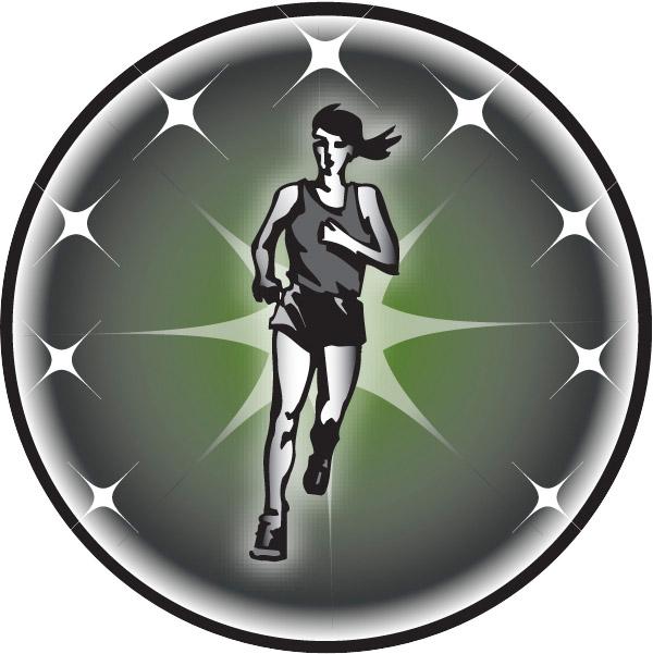 Female Cross Country Runner Emblem