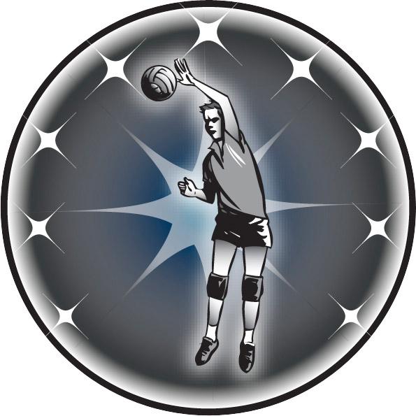 Male Volleyball Emblem