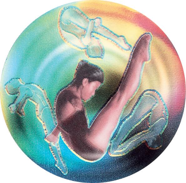Diving Female Holographic Emblem - HG 16