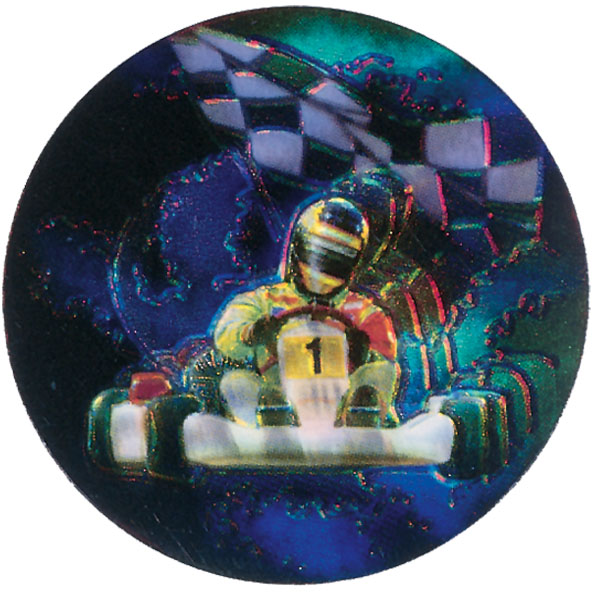 Go Kart Holographic Emblem-HG22