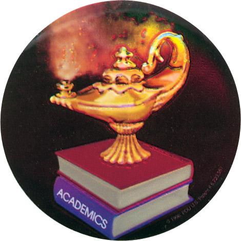 Lamp of Learning Holographic Emblem - HG 31