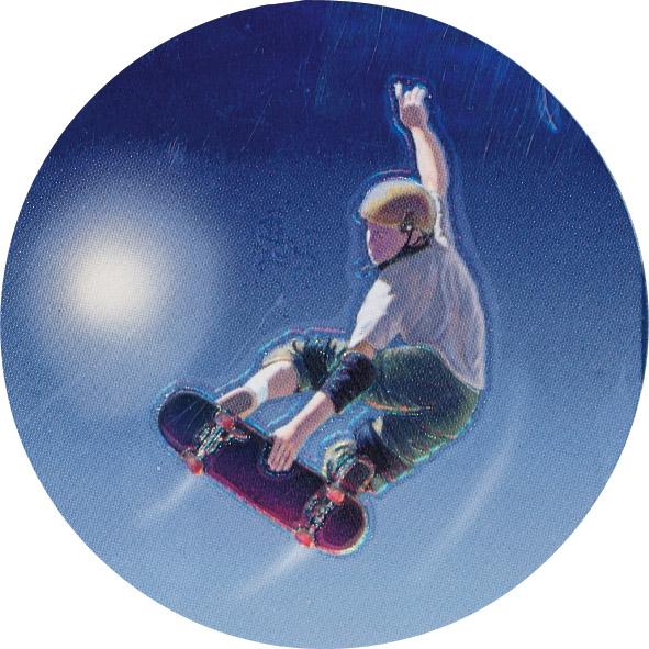 Skateboard Holographic Emblem - HG 45