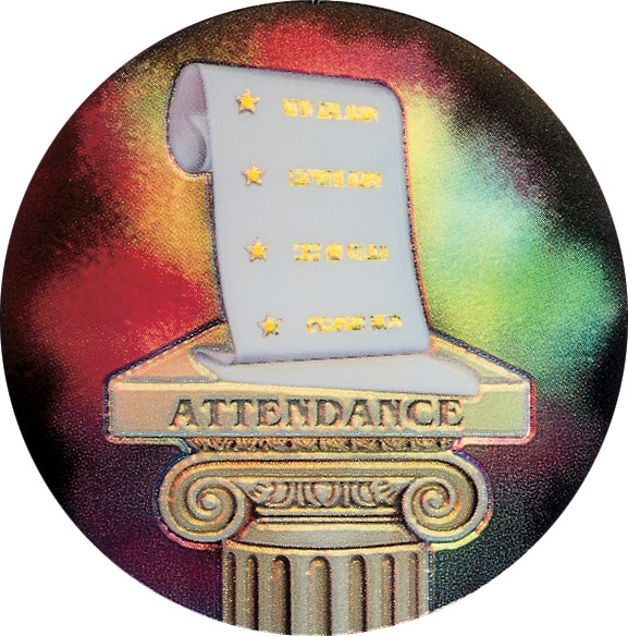Attendance Holographic Emblem - HG 4
