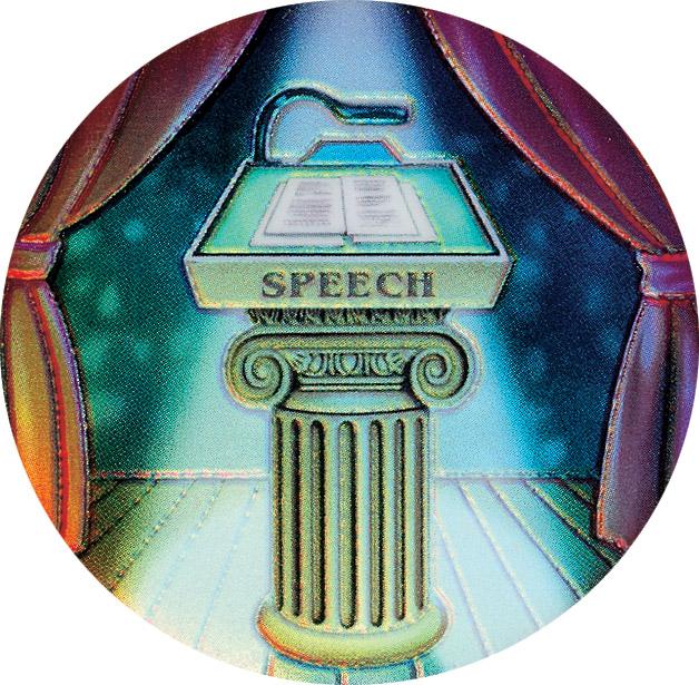 Speech Holographic Emblem - HG 51
