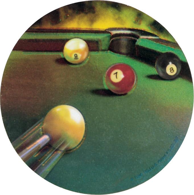 Billiards Holographic Emblem - HG 7