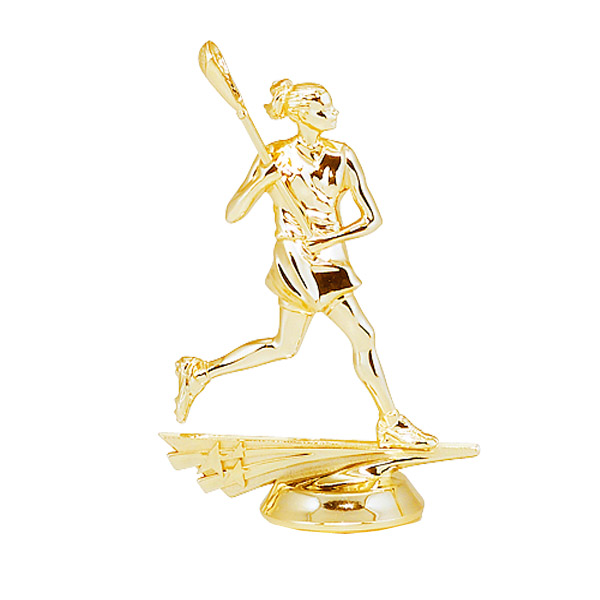 Female All Star Lacrosse Gold Trophy Figure