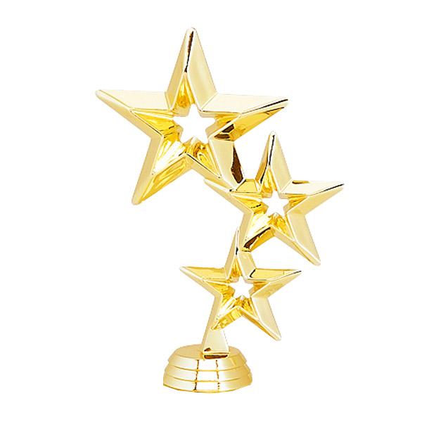 Triple Stars Gold Trophy Figure