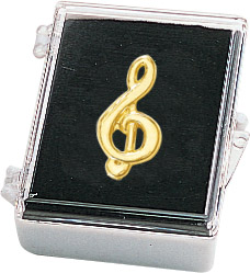 Music Clef Recognition Pin with Box