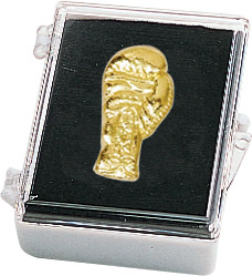 Boxing Glove Recognition Pin with Box