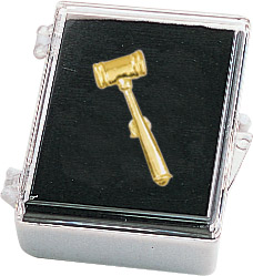 Gavel Recognition Pin with Box