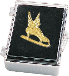 Ice Skate Recognition Pin with Box