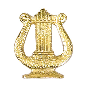 Music Lyre Recognition Pin