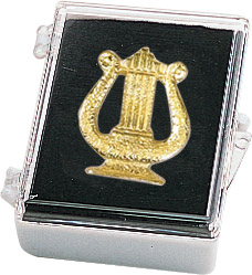 Music Lyre Recognition Pin with Box