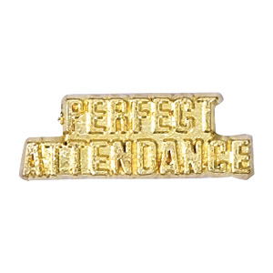 Perfect Attendance Recognition Pin