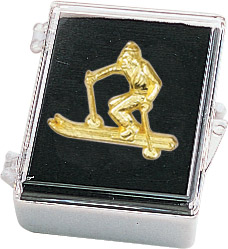 Ski-Male Recognition Pin with Box