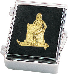 Ski-Female Recognition Pin with Box
