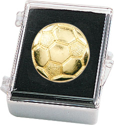 Soccer Recognition Pin with Box