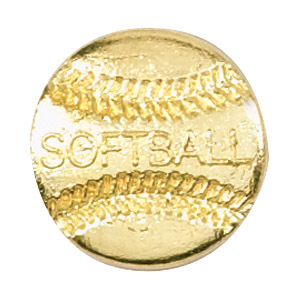 Softball Recognition Pin