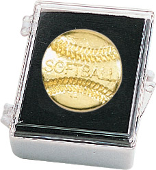 Softball Recognition Pin with Box
