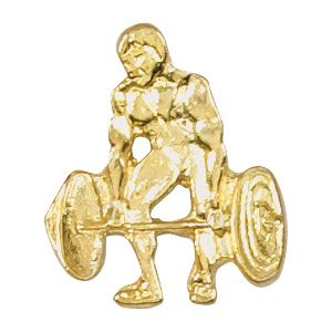 Weightlifting Recognition Pin