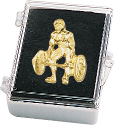 Weightlifting Recognition Pin with Box