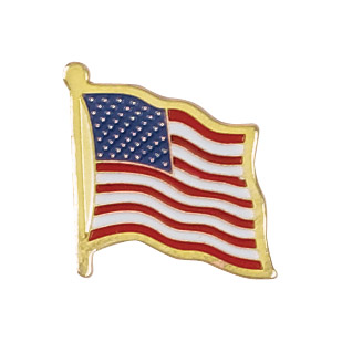 American Flag Recognition Pin