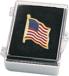 American Flag Recognition Pin with Box