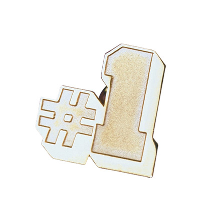 Number One Lapel Pin